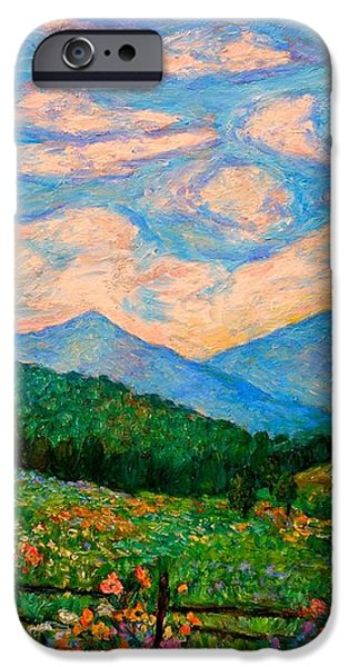 Cloud Swirl over The Peaks of Otter iPhone Case by Kendall Kessler