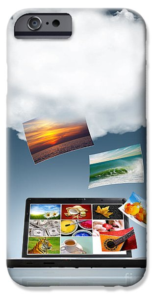 Data Photographs iPhone Cases - Cloud Technology iPhone Case by Carlos Caetano