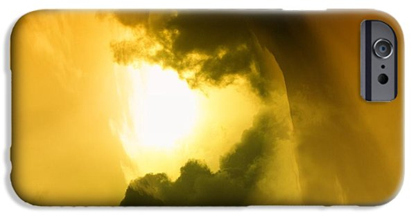 Abstract Digital Photographs iPhone Cases - Cloud Whirl iPhone Case by Jeff  Swan