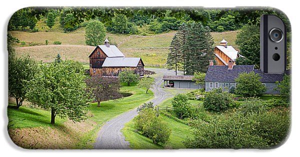 Sleepy iPhone Cases - Cloudland Farm Woodstock Vermont iPhone Case by Edward Fielding