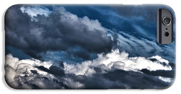 Turbulent Skies iPhone Cases - Clouds 1 iPhone Case by Claudia Mottram