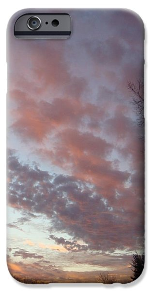 Hudson River iPhone Cases - Clouds 7 iPhone Case by Leigh Trifari