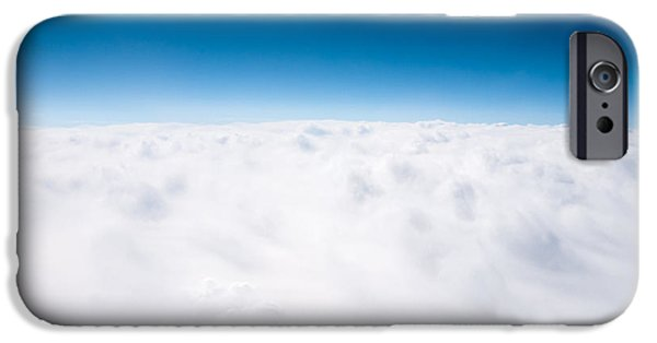Above iPhone Cases - Clouds Aerial From Above Background iPhone Case by Paul Velgos
