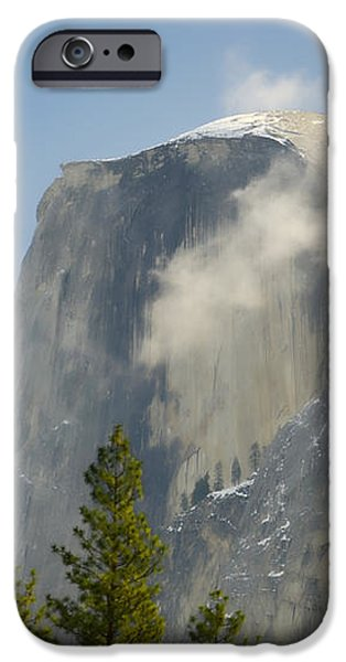 Clouds around Half Dome  iPhone Case by Jim and Emily Bush