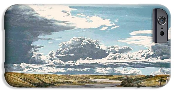 Fauna iPhone Cases - Clouds Associated With Temporary Deterioration iPhone Case by Gordon J Weber