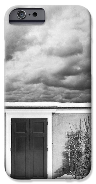 Concept Photographs iPhone Cases - Clouds Beyond the Wall iPhone Case by Edward Fielding