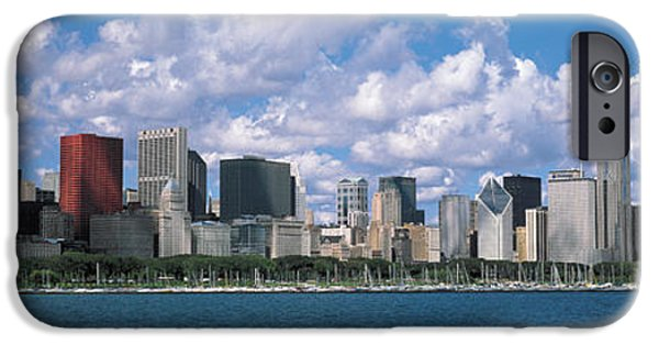 Lake Shore Drive iPhone Cases - Clouds, Chicago, Illinois, Usa iPhone Case by Panoramic Images