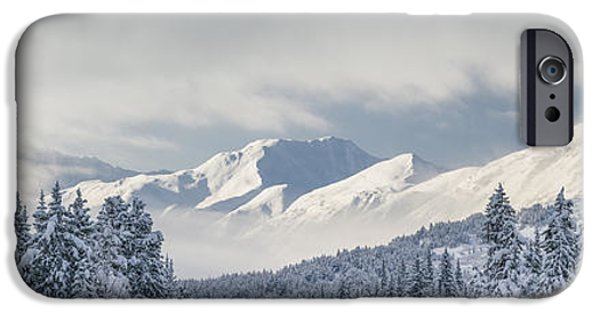 Winter Storm iPhone Cases - Clouds Clearing From The Kenai iPhone Case by Kevin Smith