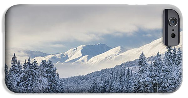 Winter Storm iPhone Cases - Clouds Clearing Over Seward Highway iPhone Case by Kevin Smith