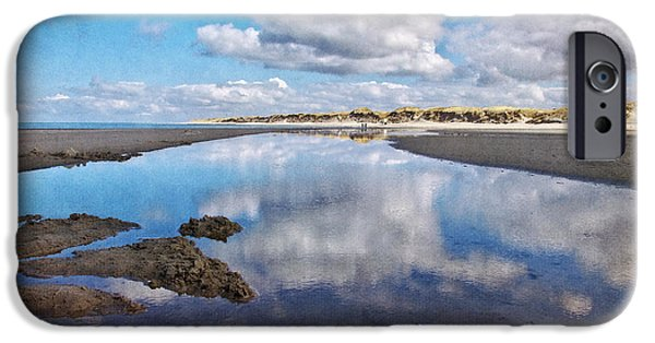 North Sea iPhone Cases - Clouds dream II iPhone Case by Angela Doelling AD DESIGN Photo and PhotoArt