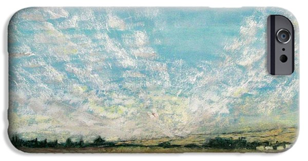 Field. Cloud Pastels iPhone Cases - Clouds from Raley Blvd iPhone Case by Stephen Raley