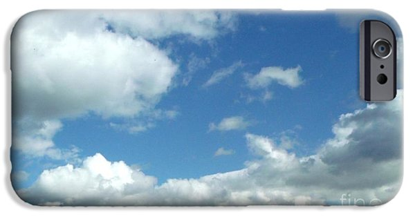 Thinking iPhone Cases - Clouds in a blue sky iPhone Case by Gail Matthews