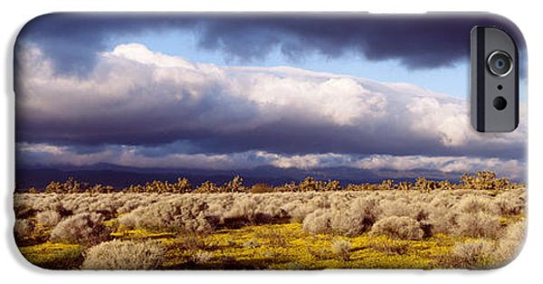 Thunderhead iPhone Cases - Clouds, Mojave Desert, California, Usa iPhone Case by Panoramic Images