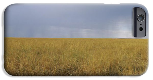 Masai Mara Photographs iPhone Cases - Clouds Over A Meadow, Masai Mara iPhone Case by Panoramic Images