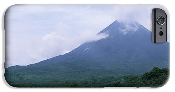 Province iPhone Cases - Clouds Over A Mountain Peak, Arenal iPhone Case by Panoramic Images