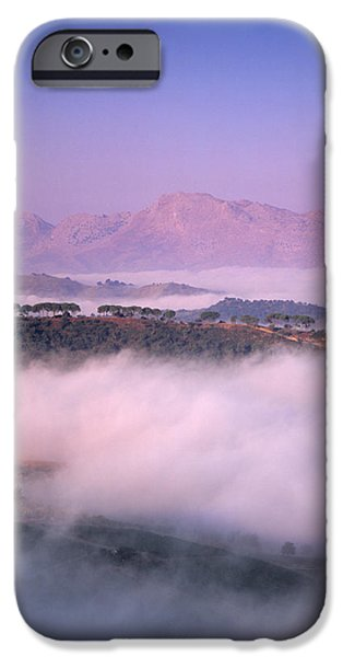 Malaga iPhone Cases - Clouds Over A Valley, Guadalevin iPhone Case by Panoramic Images