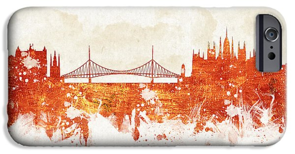 Downtown Mixed Media iPhone Cases - Clouds Over Budapest Hungary iPhone Case by Aged Pixel