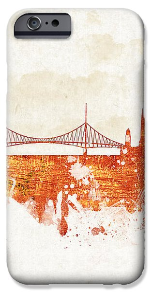 Clouds Over Budapest Hungary iPhone Case by Aged Pixel