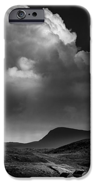 Drama iPhone Cases - Clouds over Clashnessie iPhone Case by Dave Bowman