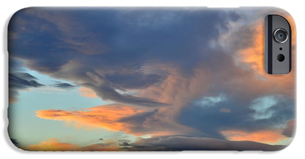 Fort Collins Photographs iPhone Cases - Clouds over Colorado iPhone Case by Ray Mathis