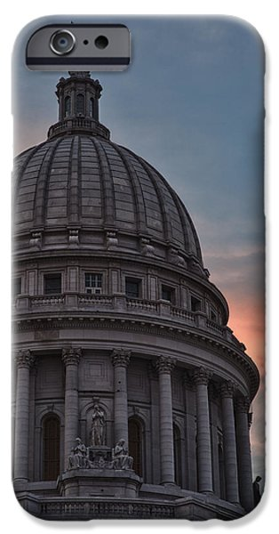 Politician iPhone Cases - Clouds Over Democracy iPhone Case by Sebastian Musial