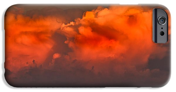 Gloaming iPhone Cases - Clouds Over Emmett Foothills iPhone Case by Robert Bales