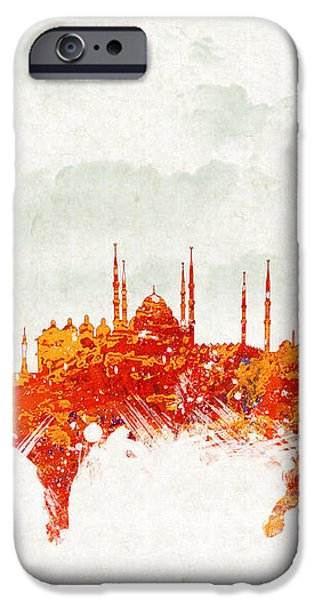 Clouds Over Istanbul Turkey iPhone Case by Aged Pixel