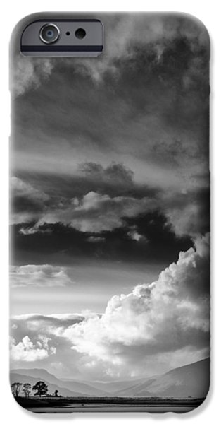 Wetlands iPhone Cases - Clouds over Loch Laich iPhone Case by Dave Bowman
