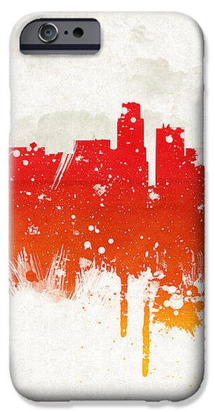Clouds Over Los Angeles California iPhone Case by Aged Pixel