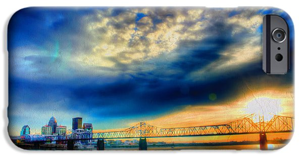 Indiana Scenes iPhone Cases - Clouds over Louisville iPhone Case by Darren Fisher