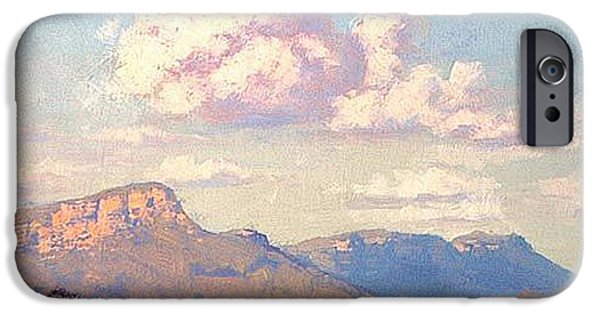 Shed Paintings iPhone Cases - Clouds over Megalong iPhone Case by Graham Gercken
