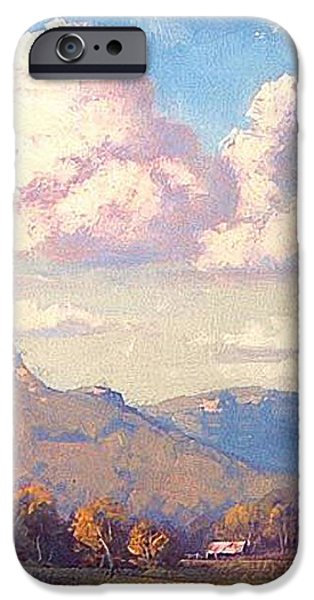 Clouds over Megalong iPhone Case by Graham Gercken