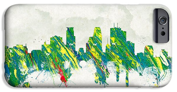Minnesota Mixed Media iPhone Cases - Clouds Over Minneapolis Minnesota USA iPhone Case by Aged Pixel