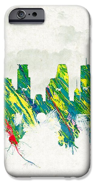 Clouds Over Minneapolis Minnesota USA iPhone Case by Aged Pixel