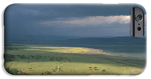 Rift iPhone Cases - Clouds Over Mountains, Lake Nakuru iPhone Case by Panoramic Images