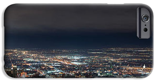 Jordan iPhone Cases - Clouds Over Salt Lake City iPhone Case by Dustin  LeFevre