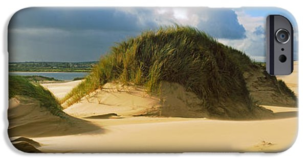 Sand Dunes iPhone Cases - Clouds Over Sand Dunes, Sands iPhone Case by Panoramic Images