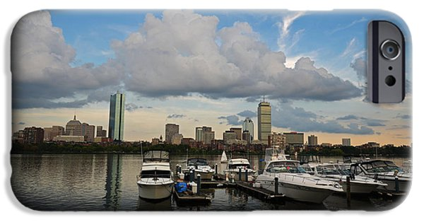 Charles River Digital Art iPhone Cases - Clouds over the Charles River iPhone Case by Toby McGuire