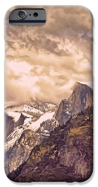 Snow iPhone Cases - Clouds Over the Valley iPhone Case by Bill Gallagher