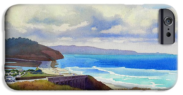 Pch iPhone Cases - Clouds over Torrey Pines iPhone Case by Mary Helmreich
