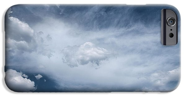 Sea Birds iPhone Cases - Clouds...altitude iPhone Case by Tom Druin