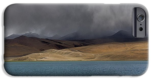Lakescape iPhone Cases - Cloudy Afternoon iPhone Case by Hitendra SINKAR