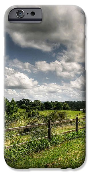 Cloudy Day in the Country iPhone Case by Kaye Menner