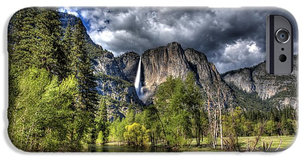 Recently Sold -  - River iPhone Cases - Cloudy Day in Yosemite iPhone Case by Shawn Everhart