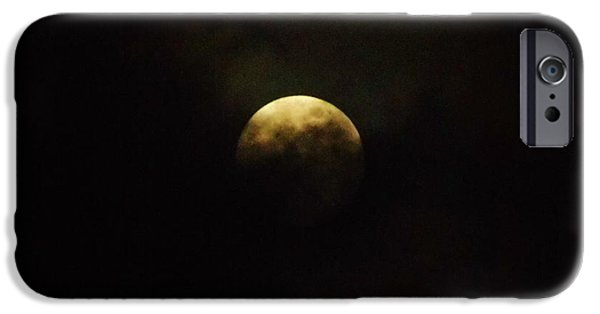 Moonscape iPhone Cases - Full Moon In The Clouds iPhone Case by D Hackett
