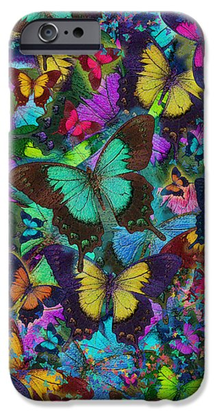 Cloured Butterfly Explosion iPhone Case by Alixandra Mullins