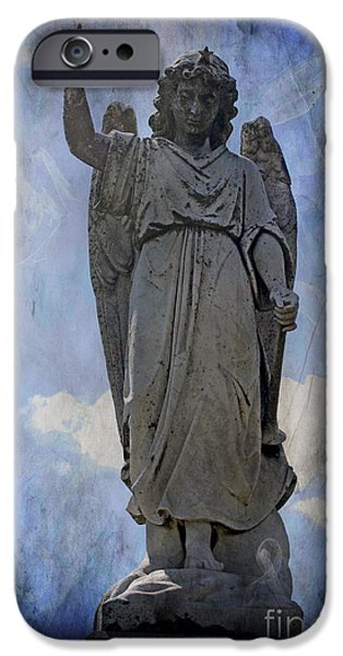 Seraphim Angel Digital Art iPhone Cases - Clover Angel III iPhone Case by J M Lister