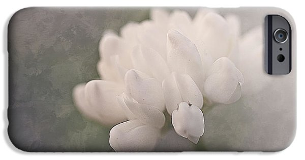 Faith Simbeck iPhone Cases - Clover in White iPhone Case by Faith Simbeck