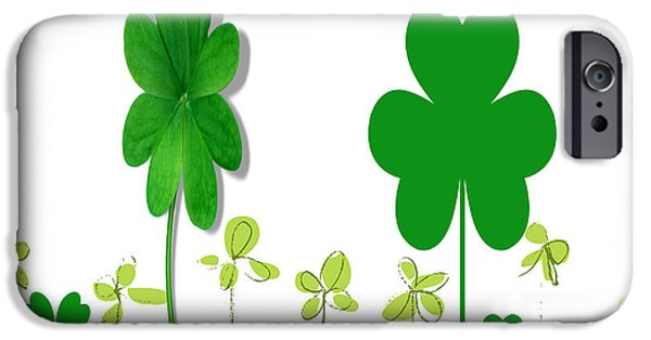 Multimedia iPhone Cases - Clovers Grow iPhone Case by Tina M Wenger