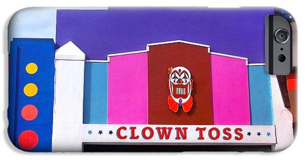 Santa Cruz Art iPhone Cases - Clown Toss iPhone Case by Art Block Collections